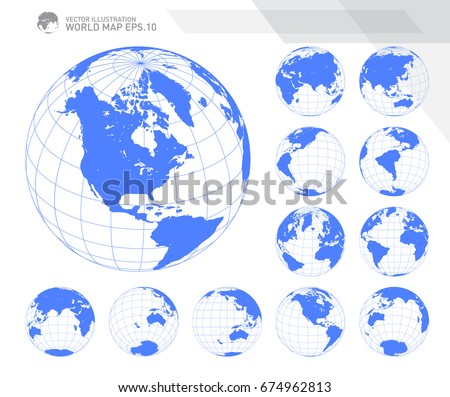 Globes showing earth all continents digital vector de stock674962813 globes showing earth with all continents digital world globe vector dotted world map vector gumiabroncs Choice Image