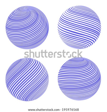Globes symbol. Vector illustration. - stock vector