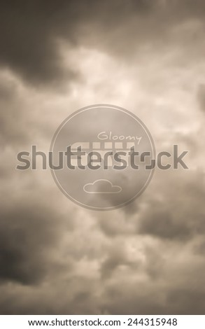 Gloomy clouds have shrouded the sky before a thunderstorm. Vector - stock vector
