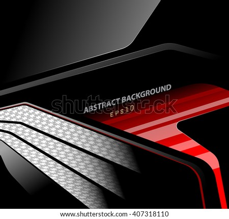 Glossy and dark vector scene abstract background