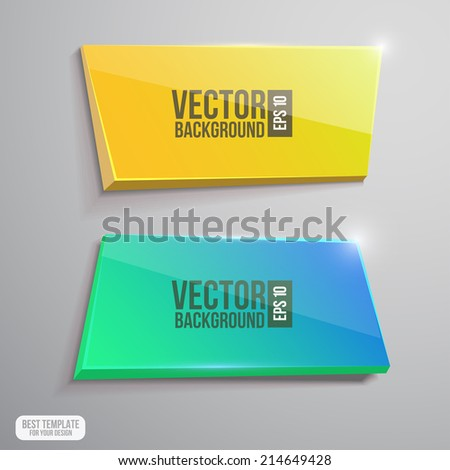 Glossy banner set. Flayer design - stock vector