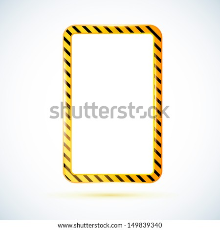 "Glossy banner ""Under Construction"". This vector image is fully editable. - stock vector"