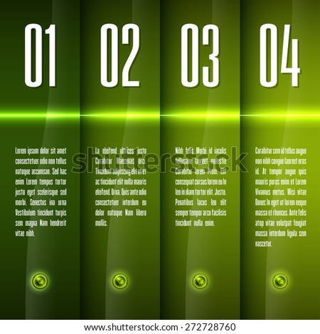 Glossy banners with glowing stripes. Modern vector layout. Fresh graphic elements. - stock vector