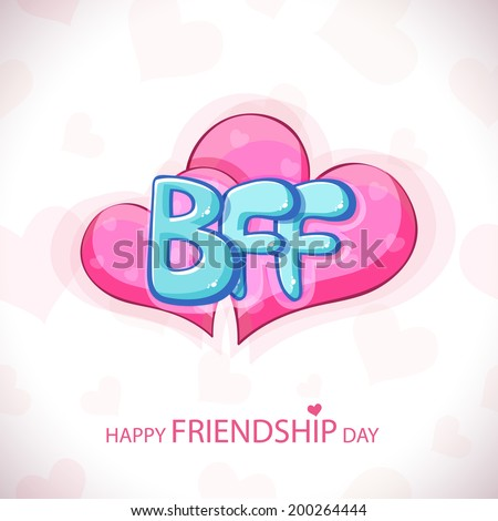 Glossy blue text BFF on shiny pink hearts on grey background for Happy ... Best Friends Holding Hands Girls