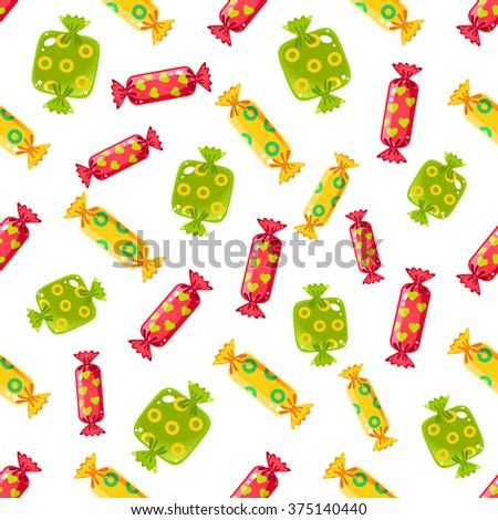 Glossy Candy Pattern bright color. Vector Illustration - stock vector