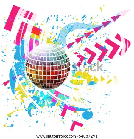 Glossy colorful abstract globe - stock vector