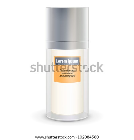 Glossy cosmetic container vector - stock vector