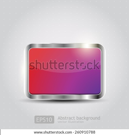Glossy download button, icon, speech with shadow and reflections vector  - stock vector