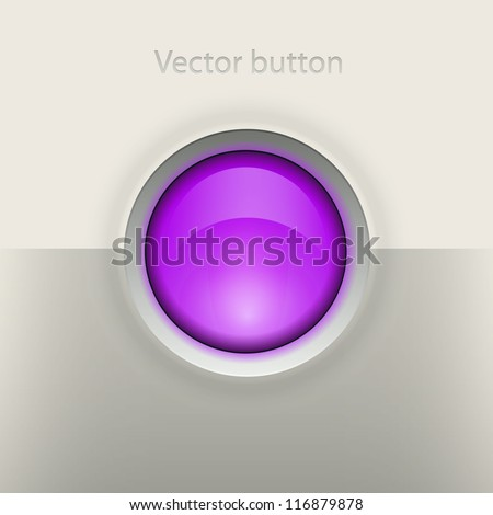 Glossy empty button. Interface vector element - stock vector