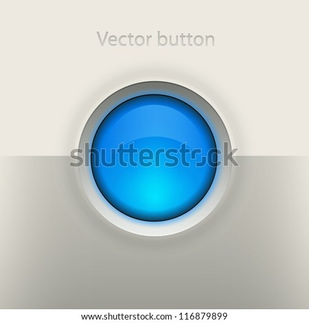 Glossy empty button. Interface vector element