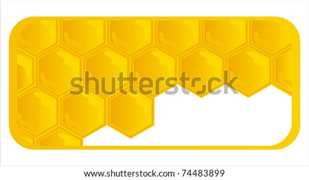 glossy honeycombs banner