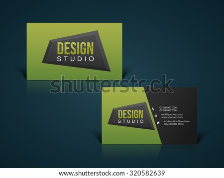 Glossy horizontal business card visiting card stock vector 2018 glossy horizontal business card visiting card name card or calling card set for your reheart Images