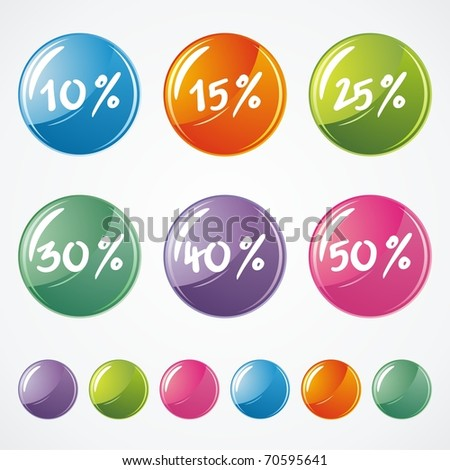 Glossy Icons for Web on white background. Vector illustration - stock vector