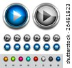 Glossy media buttons. Vector - stock photo
