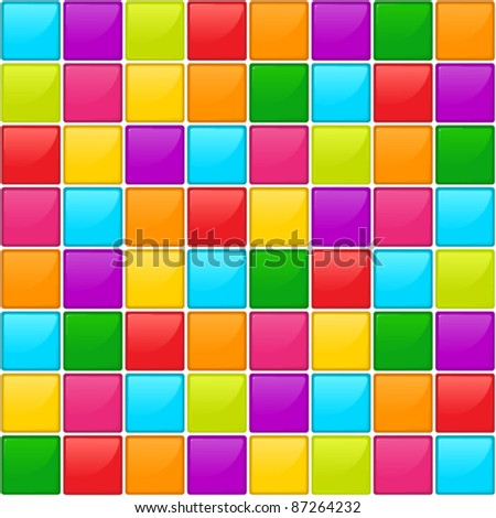 Glossy mosaic. Abstract seamless background. - stock vector