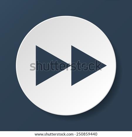 Glossy multimedia icon  forward vector EPS flat - stock vector