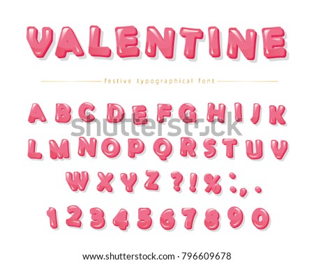 Festive ABC Letters And Numbers Perfect For Valentines Day Design