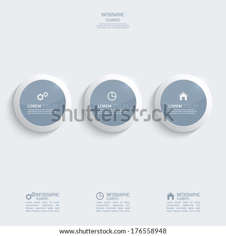 Glossy plastic buttons for infographic, numbered banners,graphic or website layout vector, template for business reports.  - stock vector