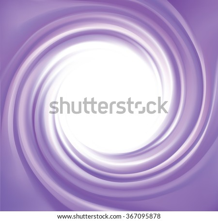 Glossy radial rippled curvy fond with space for text on white border. Gel fluid indigo creme caramel surface. Appetizing yogurt of juicy fruits light lavender color: grape, currant, mulberry, bilberry - stock vector