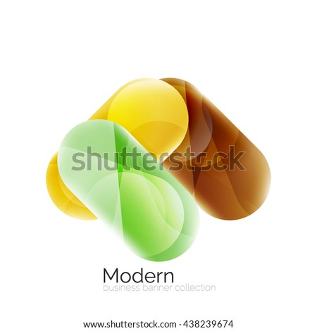 Glossy round buttons infographics background. Blank templates - stock vector