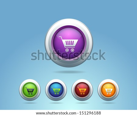 Glossy Shopping Basket Icon