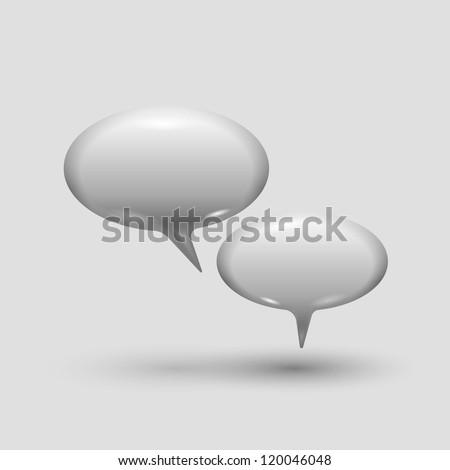 Glossy speech bubbles, eps10 vector - stock vector