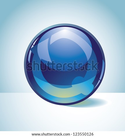 Glossy Spherical Alphabet Icon Symbol Letter Q