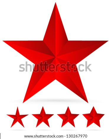 Glossy Stars Set - From Slim to Thick - stock vector