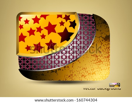 Glossy stars with pattern icon concepts business background