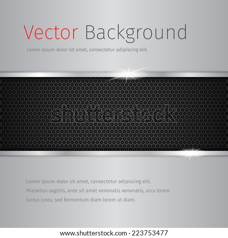 Glossy vector abstract background with chrome texture.
