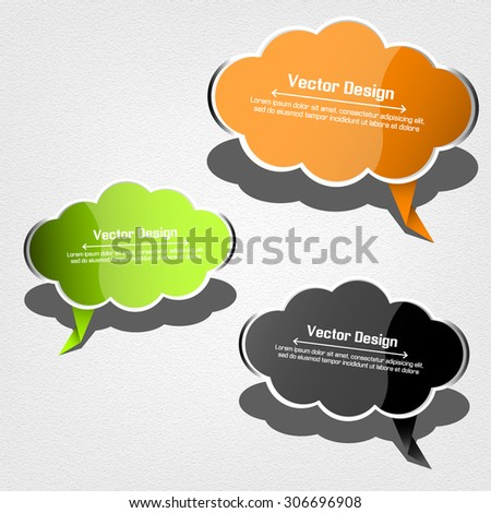 Glossy vector labels