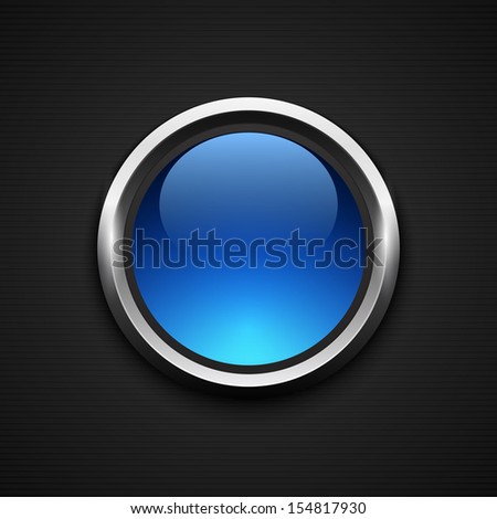 Glossy web button. Vector illustration - stock vector