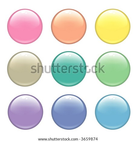 Glossy web buttons. Different colors
