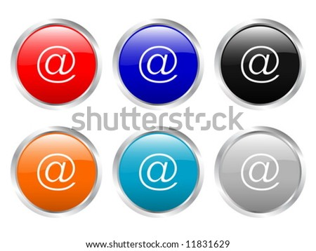 Glossy web buttons. Vector illustration