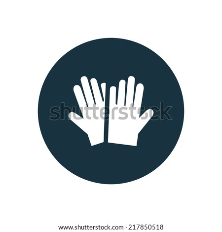 gloves circle background icon, isolated on white background  - stock vector