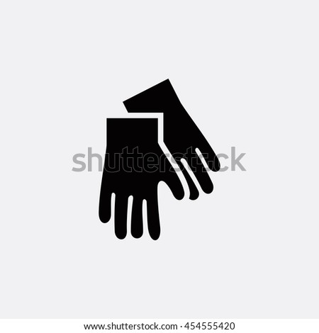 Gloves icon illustration isolated vector sign symbol