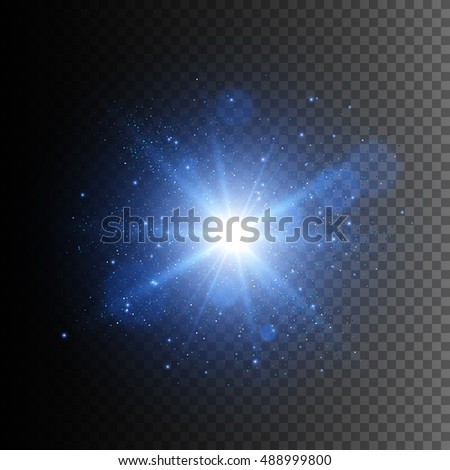 Glow light effect. Star burst with sparkles. Abstract vector illustration