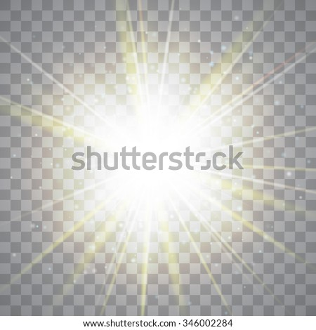 Glow light effect. Star burst with sparkles. Vector illustration - stock vector