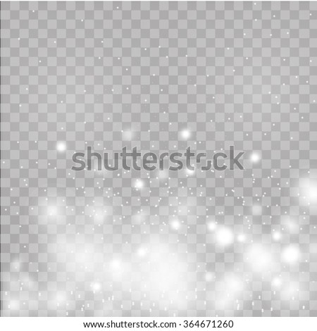 Glow special effect light, flare, star and burst. Isolated spark - stock vector