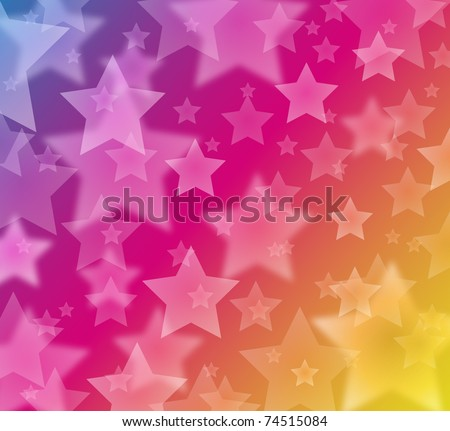 glow star background - eps10 - stock vector