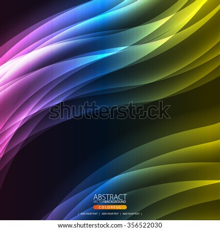 Glowing abstract background for design