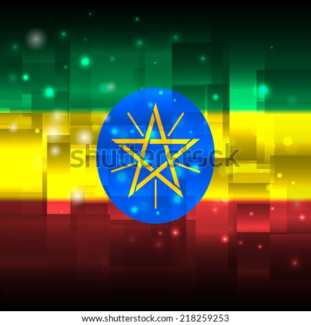 Glowing background design. Techno. Abstract. Used as card, greeting, printed materials. Stock vector. Icon. Image. Picture. Independence Day. State. National. Unusual. Flag of Ethiopia