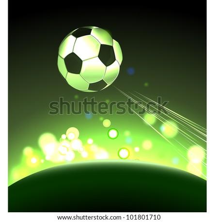 Glowing ball - stock vector