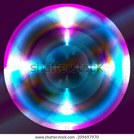 glowing circle - stock vector