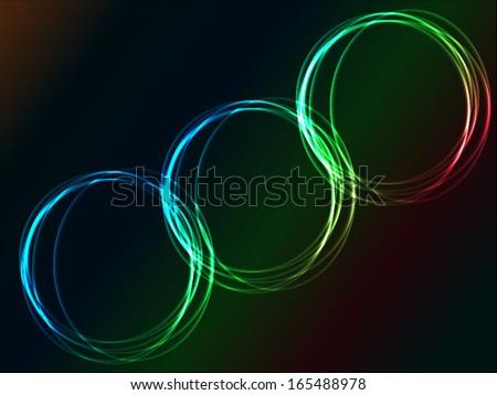 glowing circles - stock vector