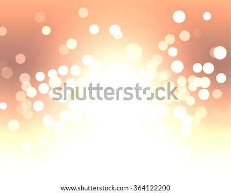 glowing circles background - stock vector