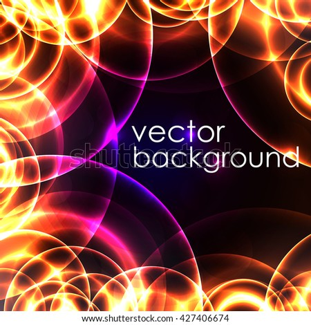 glowing circular abstract background. vector background.