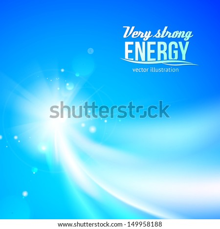 Glowing dynamic wave on an blue background.  Vector illustration - stock vector