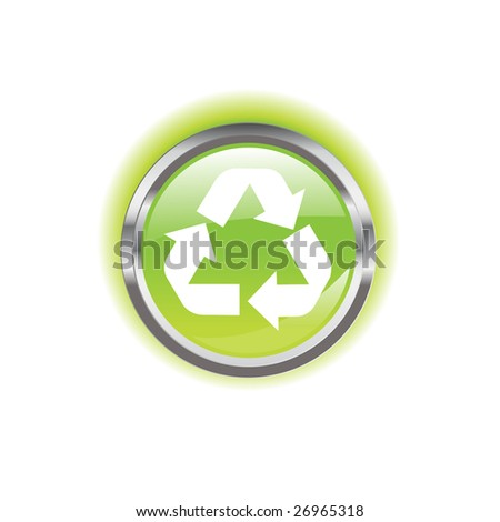 Glowing environmental button on a background for designer use