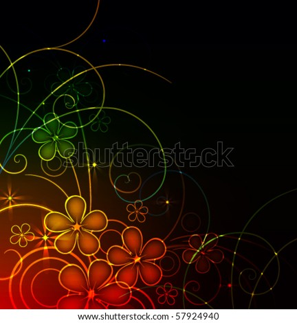 glowing floral background,eps10 format - stock vector